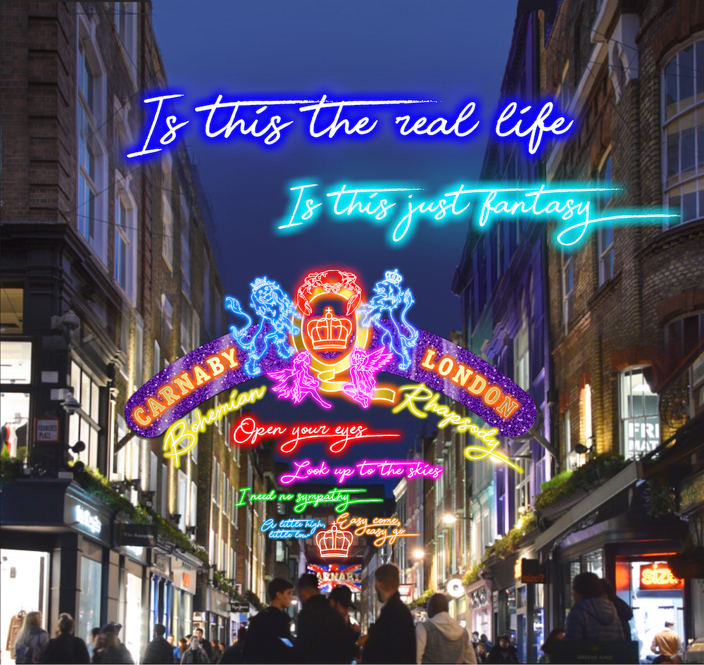 Image result for EXCLUSIVE QUEEN EXPERIENCE CELEBRATING 'BOHEMIAN RHAPSODY' LAUNCHES IN CARNABY